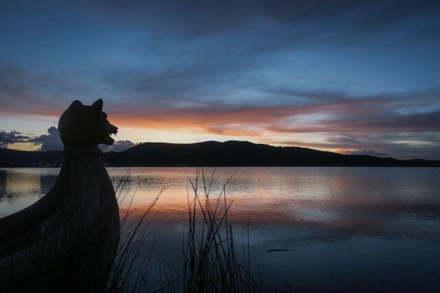 La Paz Titikakasee Sonnenuntergang