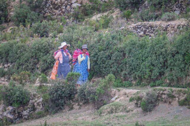 La Paz Titikakasee Isla del Sol EinheimischeLa Paz Titikakasee Isla del Sol Einheimische