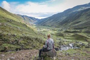 Lares Trek_Machu Picchu_Peru Aussicht Tal