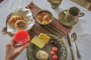 Lares Trek_Machu Picchu_Peru Inkaterra Hacienda Urubamba Frühstück