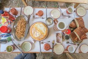 Lares Trek_Machu Picchu_Peru Camping Frühstück