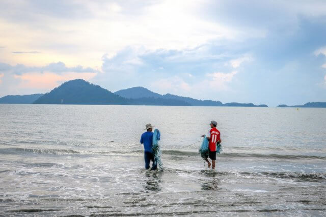Phang Nga Thailand Fischen Talaenok Dorf