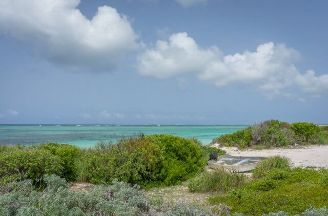 British Virgin Islands Karibik Britische Jungferninseln Anegada Strand