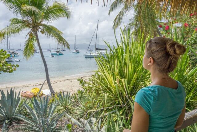 British Virgin Islands Karibik Britische Jungferninseln Cooper Island beach club