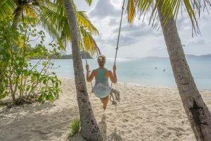 British Virgin Islands Karibik Britische Jungferninseln Tortola Smugglers Cove Strand
