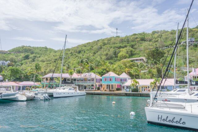 Tortola British Virgin Islands Karibik Britische Jungferninseln Tortola Sopers hole Wharf Marina