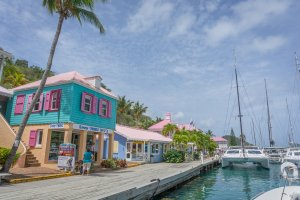 Tortola British Virgin Islands Karibik Britische Jungferninseln Tortola Sopers hole Wharf Marina