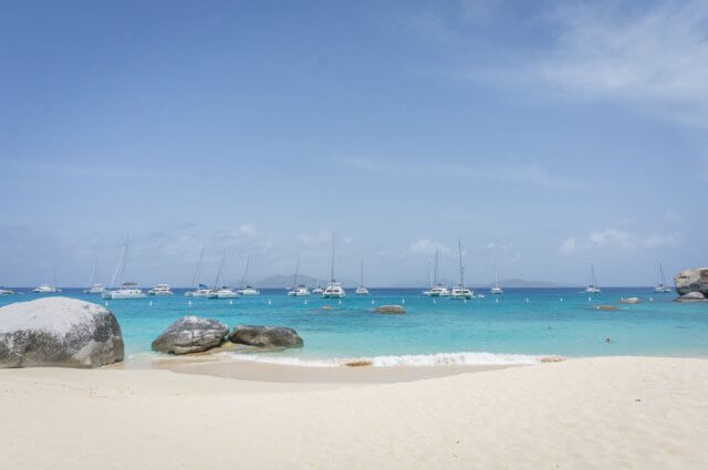 British Virgin Islands Karibik Britische Jungferninseln Virgin Gorda Beach