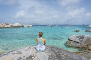 British Virgin Islands Karibik Britische Jungferninseln Virgin Gorda The Baths Devils Beach