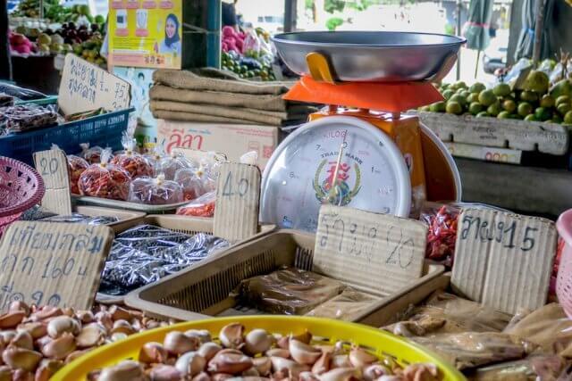 Khao Lak Thailand Markt Takuapa Waage