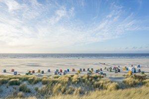 Insel Juist Nordsee Urlaub Abendstimmung Strand