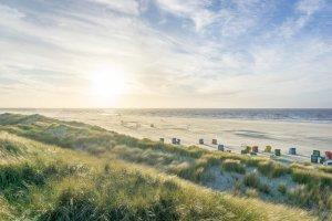Insel Juist Nordsee Urlaub Sonnenuntergang Strand