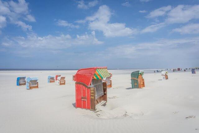 Insel Juist Nordsee Urlaub Strandkorb