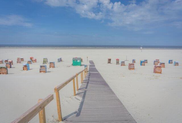 Insel Juist Nordsee Urlaub Strandweg