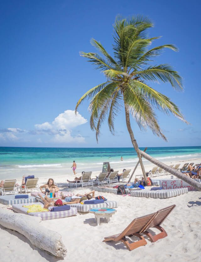 Mexiko Rundreise Tulum Taco Bar Strand