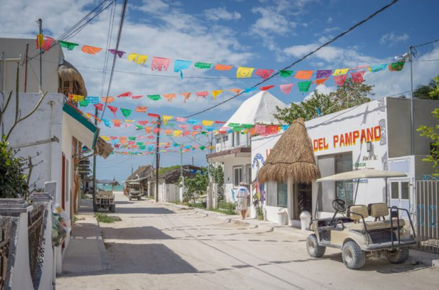 Mexiko Urlaub Rundreise Isla Holbox Strasse