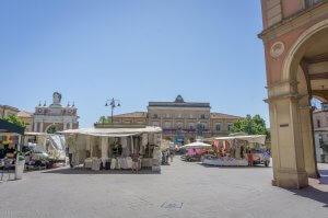 Emilia Romagna Italien Santarcangelo Markt