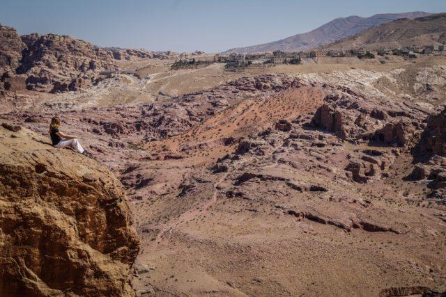 Felsenstadt Petra Jordanien Aussicht-2