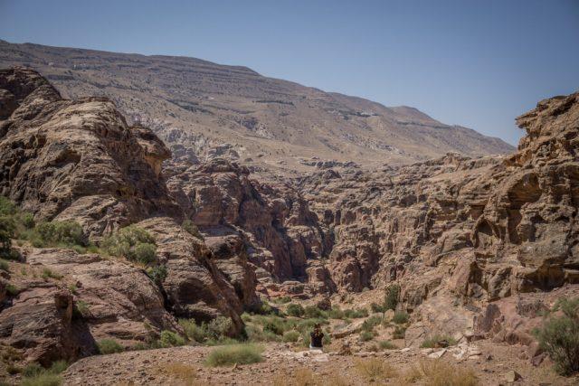 Felsenstadt Petra Jordanien Aussicht-3
