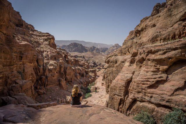 Felsenstadt Petra Jordanien Aussicht