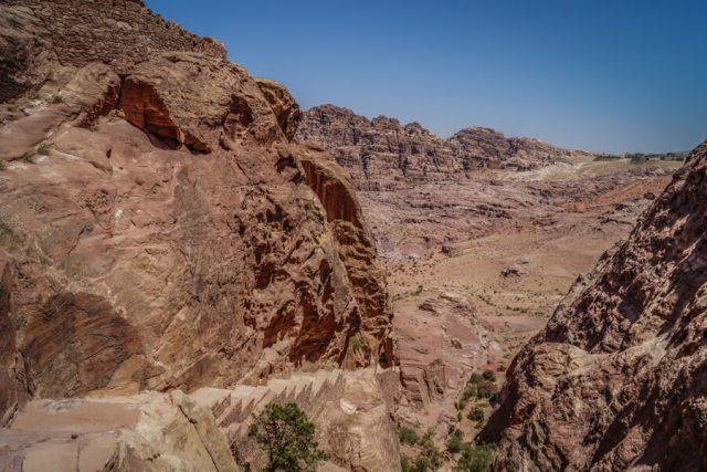 Felsenstadt Petra Jordanien Wanderwege