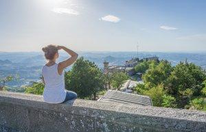 San Marino Aussicht Burg