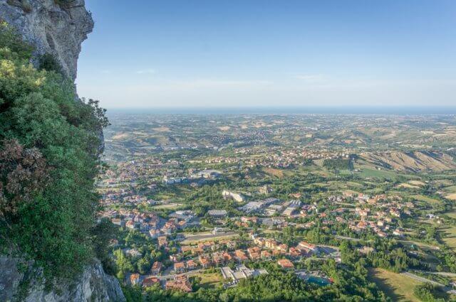 San Marino Blick auf Rimini