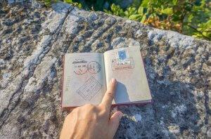 San Marino Reisepass Stempel
