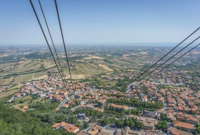 San Marino Seilbahn