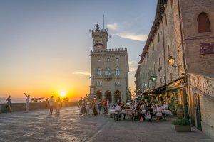 San Marino Sonnenuntergang
