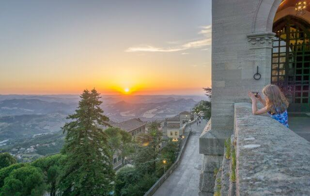 San Marino Sunset