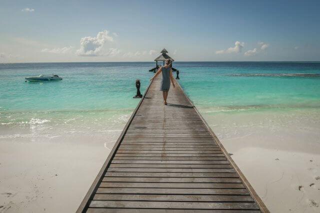 Malediven Inseln Reethi Beach Steg