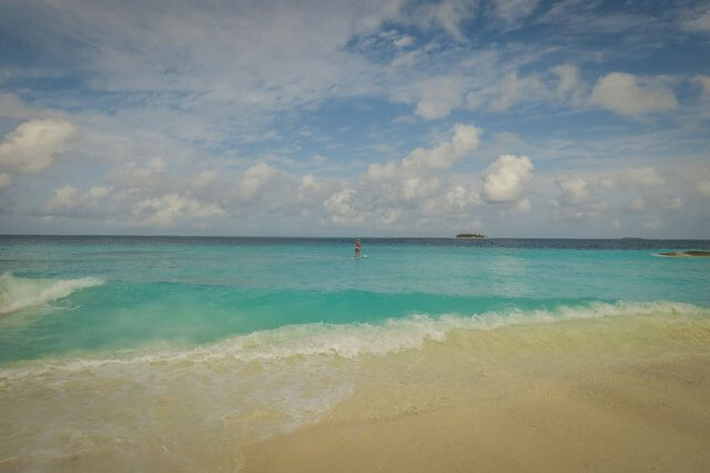 Malediven Inseln Reethi Beach SUP