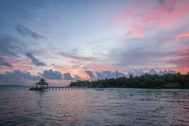 Malediven Inseln Reethi Beach Sunset Cruise