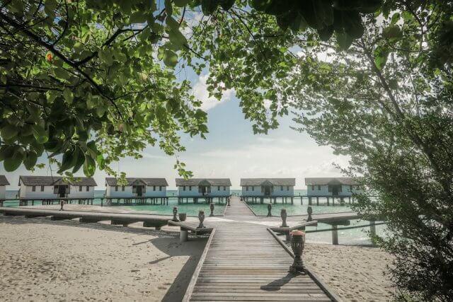 Malediven Inseln Reethi Beach Wasserbungalow