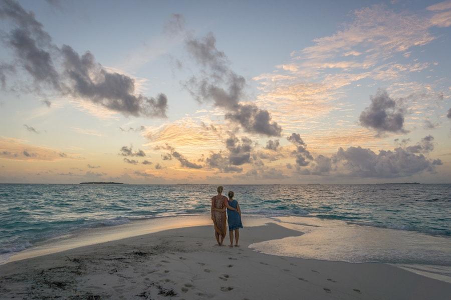 Malediven Inseln Sonnenuntergang