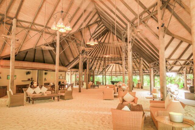 Malediven Reise Coco Palm Dhuni Eingang