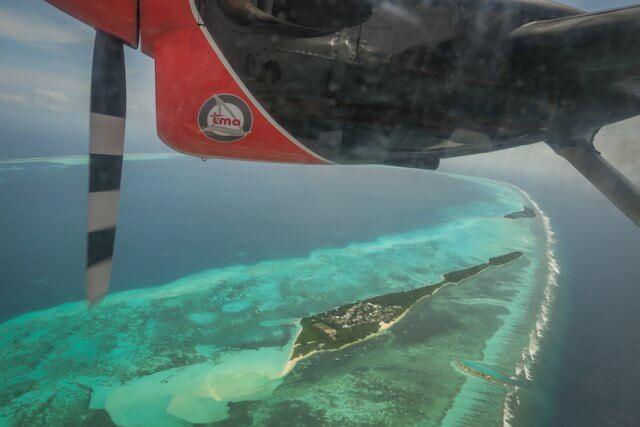 Malediven Reise Wasserflugzeug