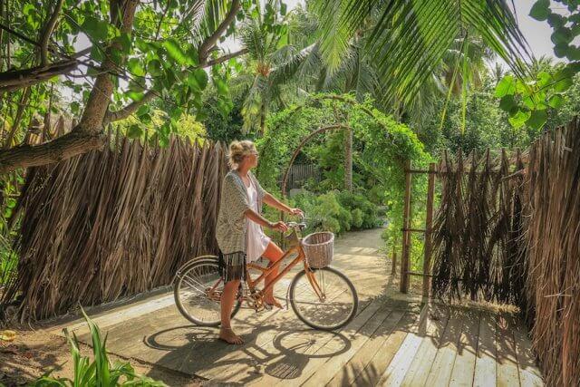 Malediven Urlaub Gili Lankanfushi Organischer Garten Eingang