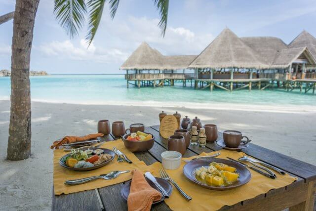 Malediven Urlaub Gili Lankanfushi Frühstück