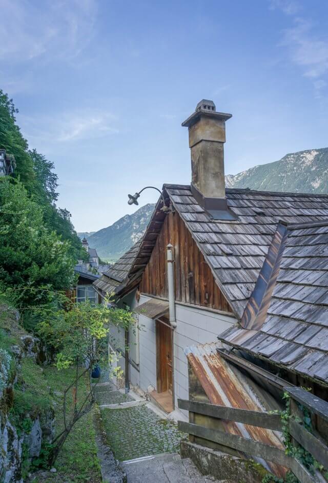 Oberoesterreich Dachstein Salzkammergut Hallstatt Gassen