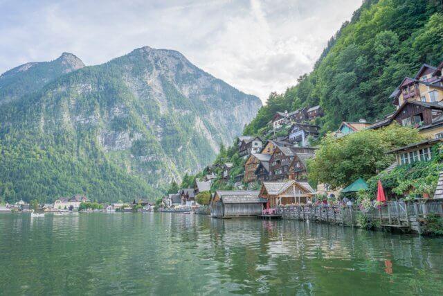 Oberoesterreich Dachstein Salzkammergut Hallstatt Haeuser
