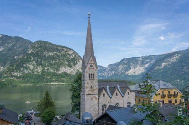 Oberoesterreich Dachstein Salzkammergut Hallstatt Kirche