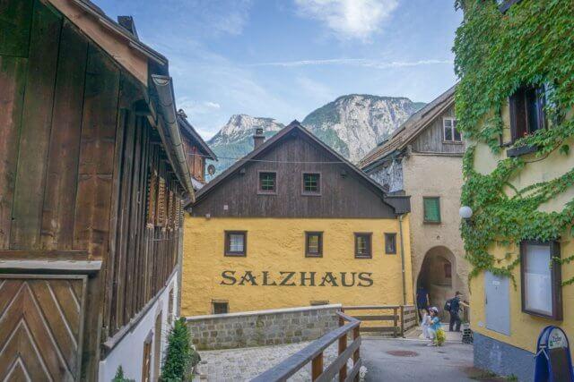 Oberoesterreich Dachstein Salzkammergut Hallstatt Salzhaus