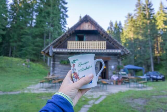 Oberoesterreich Dachstein Salzkammergut Loeckenmoos Huette