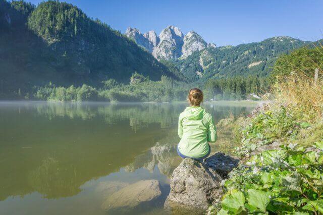 Oberoesterreich Dachstein Salzkammergut See Aussicht