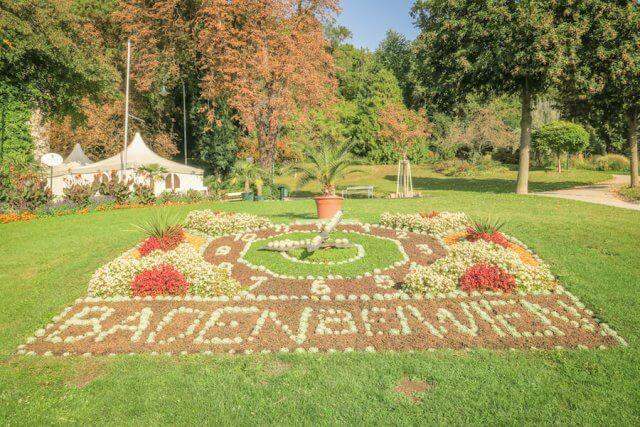 Baden bei Wien Kurpark Uhr