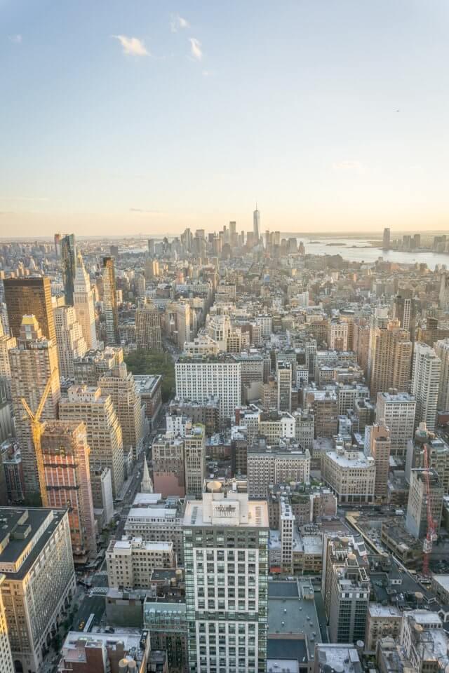 New York City Manhattan Aussicht Empire State Buildung