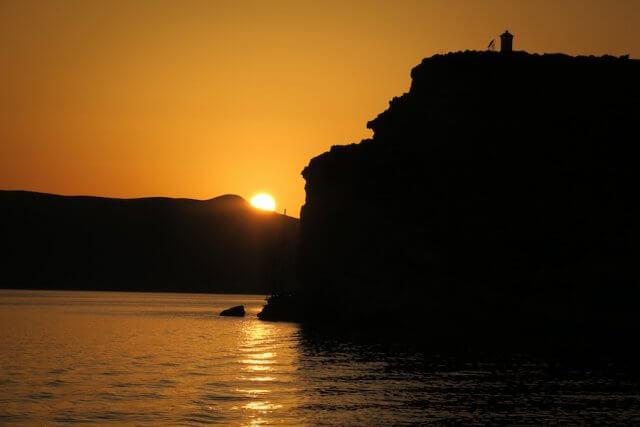 Kykladeninsel Milos Sonnenuntergang Milos Adventures
