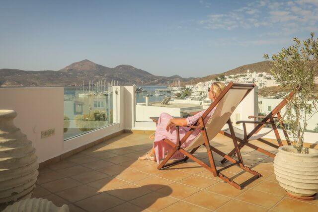 Kykladeninsel Milos Hotel Ostria